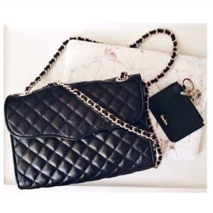 Rebecca Minkoff Large Quilted Affair Black Gold
